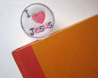 Extra LARGE Paperclip Bookmark, I Love Jesus Bookmark, Felt Easter Bookmark, Jumbo Paper Clip, Filofax, Planner Clips, Calendar, bmjesus57