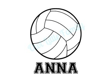 Personalized Volleyball Iron On Vinyl Decal