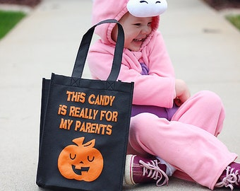 Funny Halloween Child Trick or Treat Bag