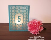 Daria Box Wedding Table Numbers Luminary, Table Number Luminaries, Wedding Signs, Wedding Table Markers, Luminaries, Wedding Decor