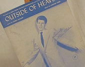 Reserved Listing for Suzanne ~ Outside of Heaven, Piano Music 1952, Sheet Music, Eddie Fisher