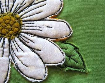 Thread Drawn Daisy clutch bag