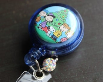 Charlie Brown Christmas Badge Holder Retractable Badge Holder
