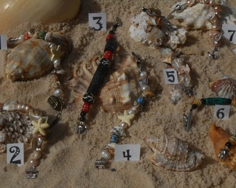 E166    Hand Beaded Hair Jewelry Awesome Pirate Jewelry  Assorted Designs