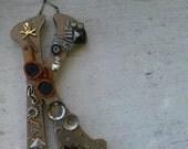 Steampunk Wooden Letter K OOAK