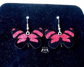 Elegant Red Butterfly Earrings