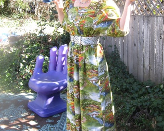 Country Chalet Printed Maxi Mumu