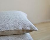 Linen Pillow Case White Gray Cover Knitted Pillow Cover Eco Cushion Linen Decorative Case Natural Linen Pillow Throw