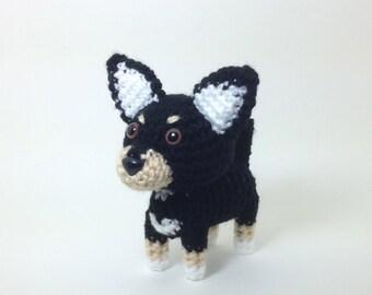 Chihuahua Amigurumi Dog Handmade Crochet Dog Stuffed Animal Doll / Made to Order