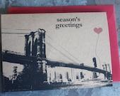 Season's Greetings Brooklyn Bridge note card set
