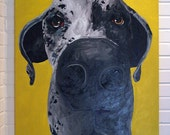 30x40 Custom Pet Portrait Painting Original Art Acrylic on Canvas Dog Cat Horse Cow
