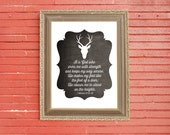 Deer Bible Verse Downloadable Print 2 Samuel 22:33-34