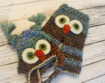 Owl Hat - Owl Pants - Baby Owl Outfit - Baby Shower Gift - Baby Boy Owl Hat - Baby Boy Owl Outfit Hat and Pants Set - Owl Baby Costume