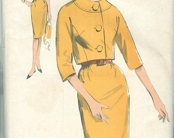 Vintage Sewing Pattern Advance 3002 Ladies 60s Dress & Jacket