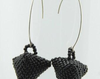 Black Humbug Earrings