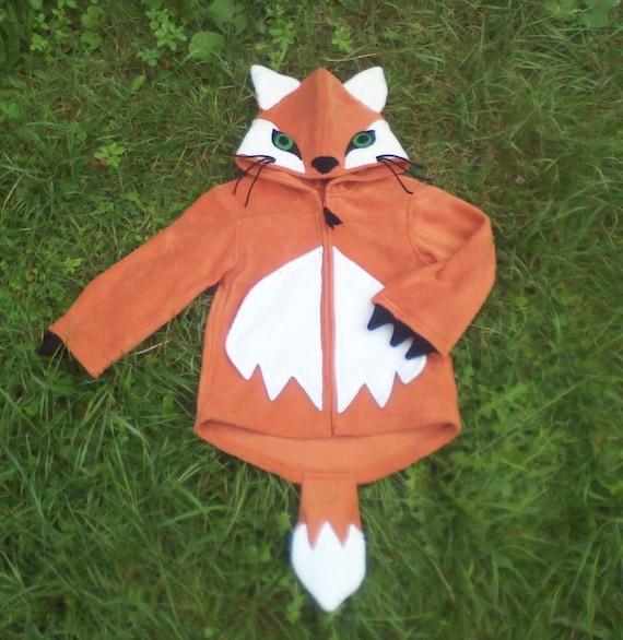 Fox hoodie with ears