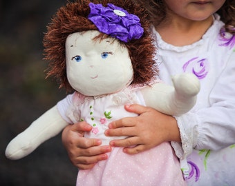 """Baby Doll Pattern - Cloth 16"""" Soft Sculpture Nanny Doll By Country Cottage Dolls PDF PATTERN"""