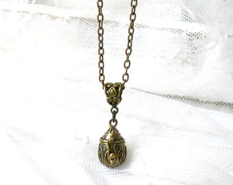 prayerbox pendant necklace prayerbox necklace pendant necklace bronze pendant necklace