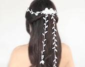 wedding headpiece, floral crown, Bridal Tiara, Hair Flower - DEL - by DeLoop