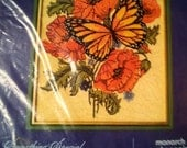 Needlepoint kit- Poppies and Butterfly