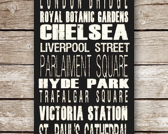 London Destination Poster in Printable File -Completely Customizable