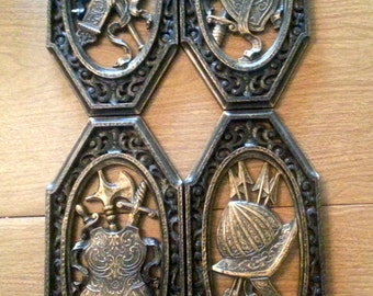 Set of 4 Vintage 1968 SYROCO Gothic Weaponry