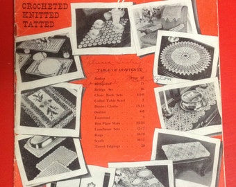 1942 Vintage Book No 19 Star Book for the Home Crocheted Knitted Tatted GREAT Condition