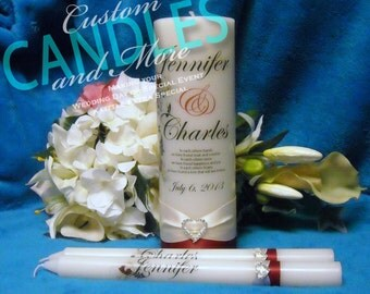 Unity Candle With Tapers Personalized