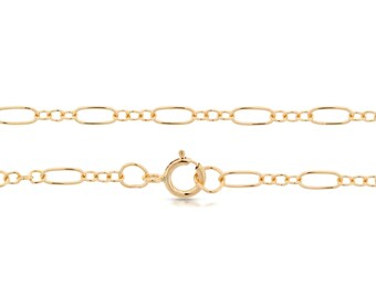 14Kt Gold Filled 5.6x2.6mm 18 Inch Long and Short Cable Chain - 5pcs Made in USA 20% discounted lowest price (5538)/5