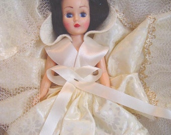 Holiday Sale-Vintage Bride Doll- Mid Century Collectible-Bridal-Brunette Dolls of All Lands