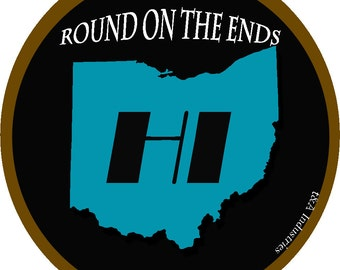 Ohio Sticker Round on the Ends Hi in the Middle