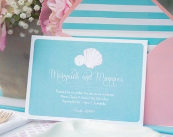 Mermaids & Mommies Collection: Printable Invitation