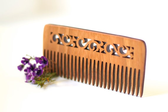 Wooden Comb - Flower