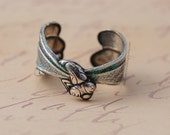Dragonfly Ring Silver With Iridescent Wings