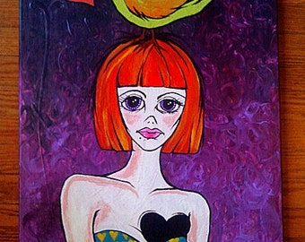 Where did my heart go? colorful acrylic painting on canvas