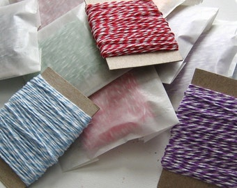 15 yards Bakers Twine YOU PICK Color