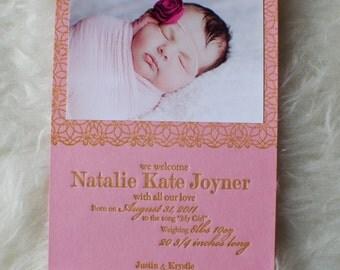 Letterpress Baby Announcements