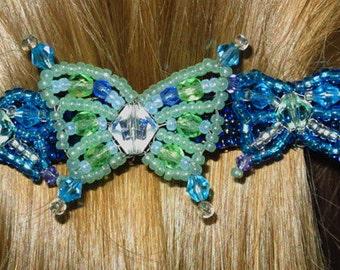 Beadwork Butterfly Barrette