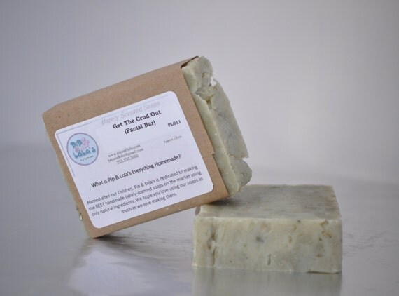 Get the Crud Out Oily Skin Soap --  AllNatural Soap, Handmade Soap, Vegan Soap, Oily Facial Soap, Lavender TeaTree Soap, French Clay Soap