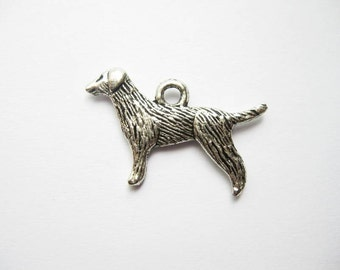 8 Dog Charms in Silver Tone - C052