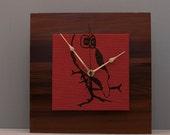 i spotted you Owl Clock, Reclaimed Wood Clock, Unique Clock
