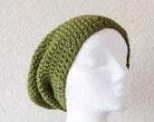 Green Slouchy Beanie on SALE 40% OFF, Men's Green Slouchy Hat, Unisex Beanie