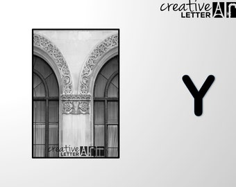 Download Letter Y 205 Architectural Alphabet Photography - Printable sizes 4x6, 5x7 8x12 Digital Image - Family Name, Wedding, Personalize