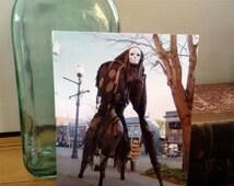 SIngle Postcard of OOAK 4 Legged Stilt Costume - Stilt Spirit