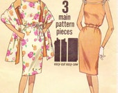 60s Simplicity Sewing Pattern 4471 Womens Summer Sleeveless Dress & Stole Size 16 Bust 36 Vintage Sewing Pattern