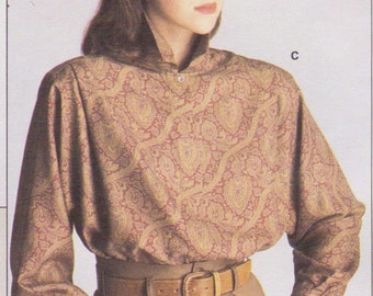 1980s Calvin Klein Womens Set of Blouses Vogue Sewing Pattern 1625 Size 12 Bust 34 UnCut Suit Blouse Patterns Vogue American Designer
