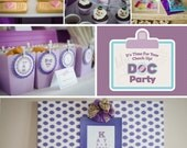 DIY printable birthday party package - The Doc is In - Doc McStuffins Inspired