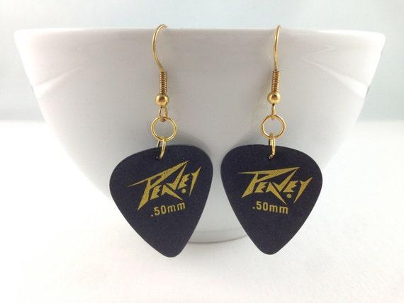 Black/Grey Guitar Pick Earrings, Guitar Picks, Guitar Pics, Guitar Jewelry, Band Jewelry, Music Accessories, Guitar Pick Jewelry