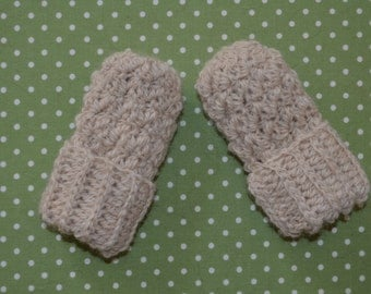 Alpaca Mittens Thumbless Natural Organic Soft fits up to 2 years