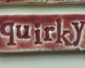 Quirky stoneware focal tile for mosaic or jewelry